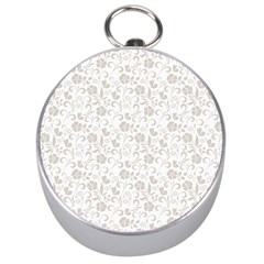 Elegant seamless Floral Ornaments Pattern Silver Compasses