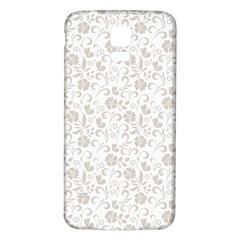Elegant seamless Floral Ornaments Pattern Samsung Galaxy S5 Back Case (White)