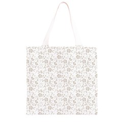 Elegant seamless Floral Ornaments Pattern Grocery Light Tote Bag