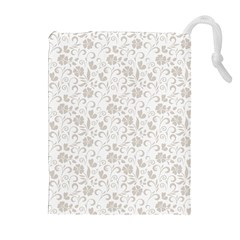 Elegant seamless Floral Ornaments Pattern Drawstring Pouches (Extra Large)