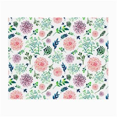 Hand Painted Spring Flourishes Flowers Pattern Small Glasses Cloth (2-Side)