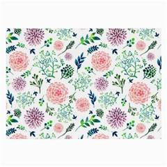 Hand Painted Spring Flourishes Flowers Pattern Large Glasses Cloth (2-Side)