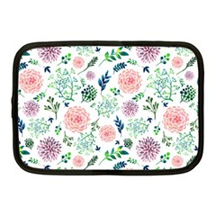 Hand Painted Spring Flourishes Flowers Pattern Netbook Case (Medium)