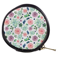 Hand Painted Spring Flourishes Flowers Pattern Mini Makeup Bags