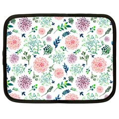 Hand Painted Spring Flourishes Flowers Pattern Netbook Case (XL)