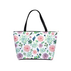 Hand Painted Spring Flourishes Flowers Pattern Shoulder Handbags