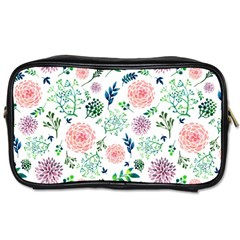 Hand Painted Spring Flourishes Flowers Pattern Toiletries Bags 2-Side