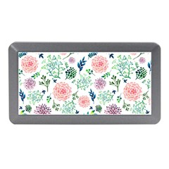 Hand Painted Spring Flourishes Flowers Pattern Memory Card Reader (Mini)
