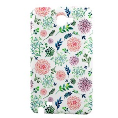 Hand Painted Spring Flourishes Flowers Pattern Samsung Galaxy Note 1 Hardshell Case