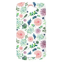 Hand Painted Spring Flourishes Flowers Pattern HTC One S Hardshell Case