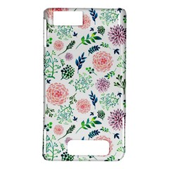 Hand Painted Spring Flourishes Flowers Pattern Motorola DROID X2