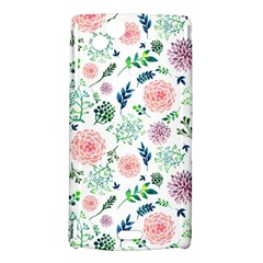 Hand Painted Spring Flourishes Flowers Pattern Sony Xperia Arc