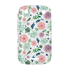Hand Painted Spring Flourishes Flowers Pattern BlackBerry Curve 9380