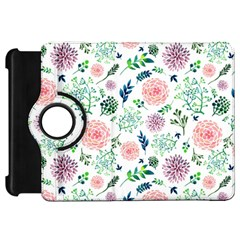 Hand Painted Spring Flourishes Flowers Pattern Kindle Fire HD Flip 360 Case