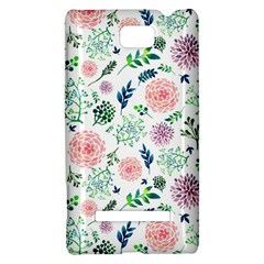 Hand Painted Spring Flourishes Flowers Pattern HTC 8S Hardshell Case