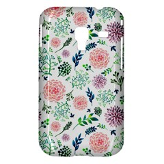 Hand Painted Spring Flourishes Flowers Pattern Samsung Galaxy Ace Plus S7500 Hardshell Case