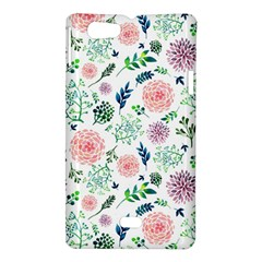 Hand Painted Spring Flourishes Flowers Pattern Sony Xperia Miro