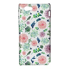 Hand Painted Spring Flourishes Flowers Pattern Sony Xperia J