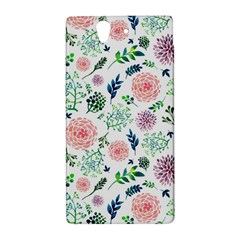 Hand Painted Spring Flourishes Flowers Pattern Sony Xperia Z