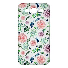 Hand Painted Spring Flourishes Flowers Pattern Samsung Galaxy Mega 5.8 I9152 Hardshell Case