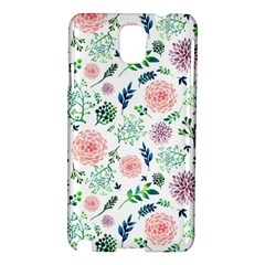 Hand Painted Spring Flourishes Flowers Pattern Samsung Galaxy Note 3 N9005 Hardshell Case
