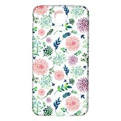 Hand Painted Spring Flourishes Flowers Pattern Samsung Galaxy S5 Back Case (White)