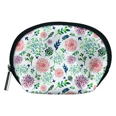 Hand Painted Spring Flourishes Flowers Pattern Accessory Pouches (Medium)