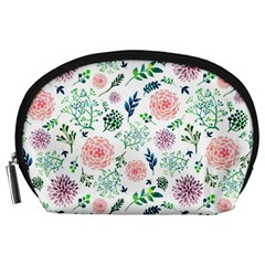 Hand Painted Spring Flourishes Flowers Pattern Accessory Pouches (Large)