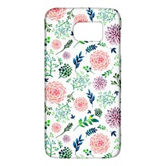 Hand Painted Spring Flourishes Flowers Pattern Galaxy S6