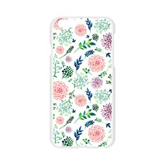Hand Painted Spring Flourishes Flowers Pattern Apple Seamless iPhone 6/6S Case (Transparent)