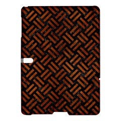 Woven2 Black Marble & Brown Burl Wood Samsung Galaxy Tab S (10 5 ) Hardshell Case