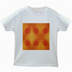 Sunny Happy Orange Dots Kids White T Shirts
