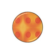 Sunny Happy Orange Dots Hat Clip Ball Marker