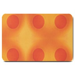 Sunny Happy Orange Dots Large Doormat