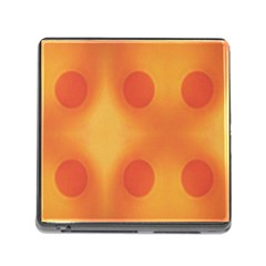 Sunny Happy Orange Dots Memory Card Reader (Square)