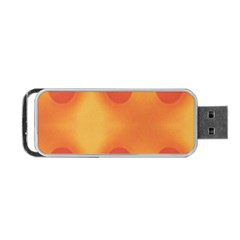 Sunny Happy Orange Dots Portable Usb Flash (two Sides)