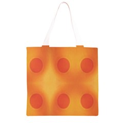 Sunny Happy Orange Dots Grocery Light Tote Bag