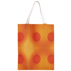 Sunny Happy Orange Dots Classic Light Tote Bag