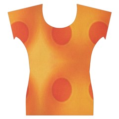 Sunny Happy Orange Dots Women s Cap Sleeve Top