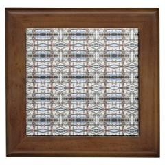 Geometric Diamonds Framed Tiles