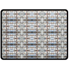 Geometric Diamonds Double Sided Fleece Blanket (large)