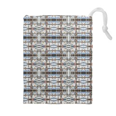 Geometric Diamonds Drawstring Pouches (Extra Large)