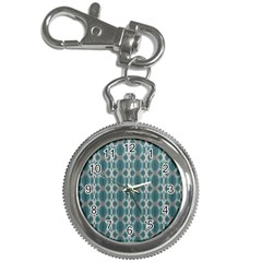 Tropical Blue Abstract Ocean Drops Key Chain Watches