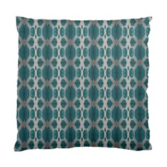 Tropical Blue Abstract Ocean Drops Standard Cushion Case (One Side)