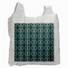 Tropical Blue Abstract Ocean Drops Recycle Bag (Two Side)
