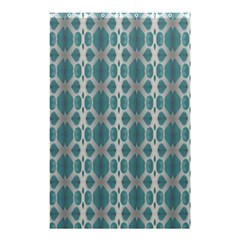 Tropical Blue Abstract Ocean Drops Shower Curtain 48  x 72  (Small)