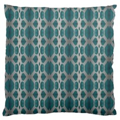 Tropical Blue Abstract Ocean Drops Large Cushion Case (Two Sides)