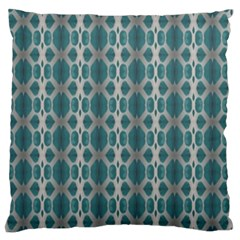 Tropical Blue Abstract Ocean Drops Standard Flano Cushion Case (Two Sides)