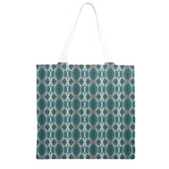 Tropical Blue Abstract Ocean Drops Grocery Light Tote Bag