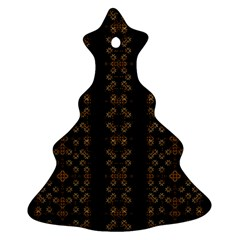 Dark Arabic Stripes Ornament (christmas Tree)